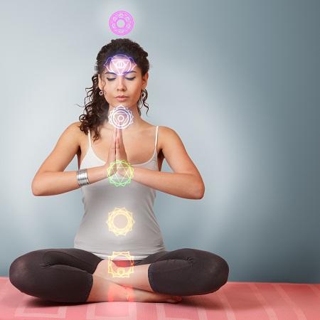 yoga meditation in lotus position