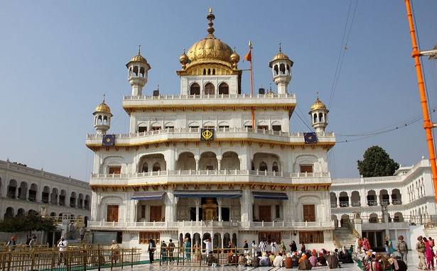 The Akal Takhat Sahib (The Throne of the Almighty, The Immortal Throne) is the hub of the Sikh polity, and part of the Harmandir Sahib (Golden Temple) Complex. The Akal Takht Sahib was revealed by Guru Har Gobind Sahib on June 15, 1606. In 1606, the building of the Akal Takht Sahib was a one-storied structure. The foundation stone was laid down by Guru Har Gobind Sahib himself and the whole of the structure was constructed by Baba Buddha and Bhai Gurdas. Only the highest respectable and enlightened Sikhs were allowed to participate in the process of the building of the Takhat Sahib, ordinary personnel or the masons were not allowed to participate in it.