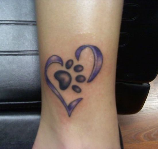 Dog Paw Print Tattoo Writing: Top 9 Dog Tattoo Designs And Pictures