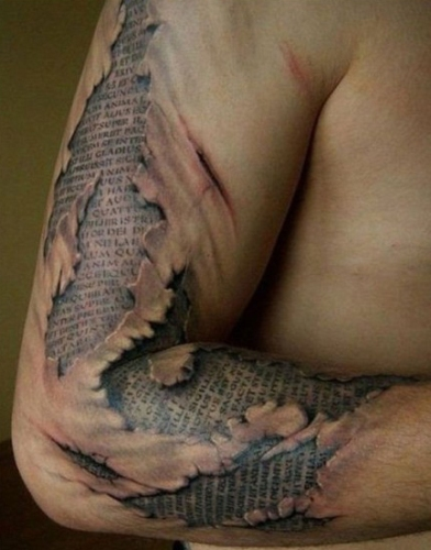 Ripped through the pages tattoo