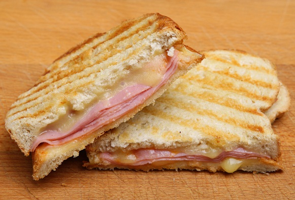 Toddler Food Recipes -Ham and Cheese Panini