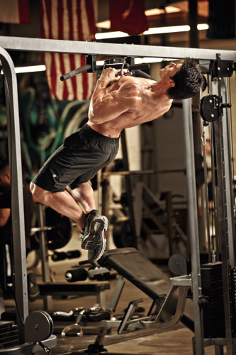 Arched back pull up