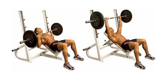 Barbell inclined