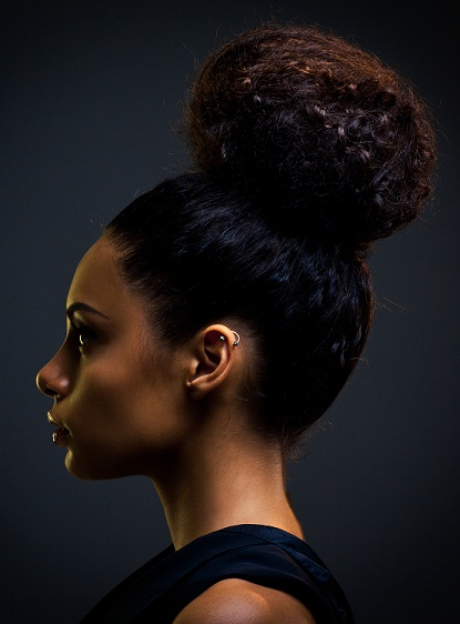 Bun hairstyles for medium hair 4