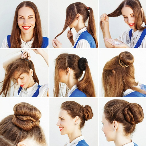 Bun hairstyles for prom 2