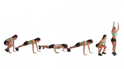 Burpees - fast fat burning exercises