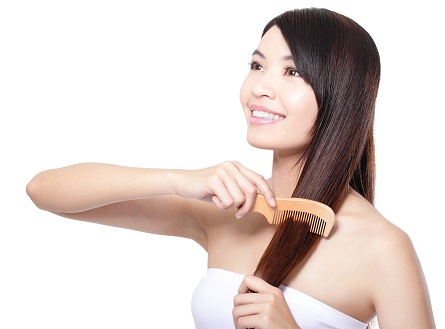 Careful Combing for soft hair