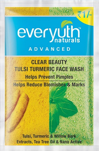 Face Washes for Pimples - Everyuth Natural Tulsi and Turmeric Face Wash
