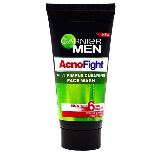 Face Washes for Pimples - Garnier Men Acno Fight 6 in1 Pimple Clearing Face Wash
