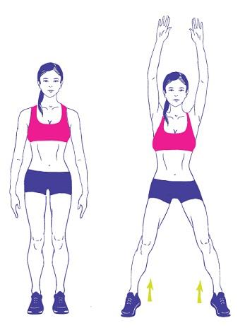 Fat Burning Exercises - Jumping Jacks