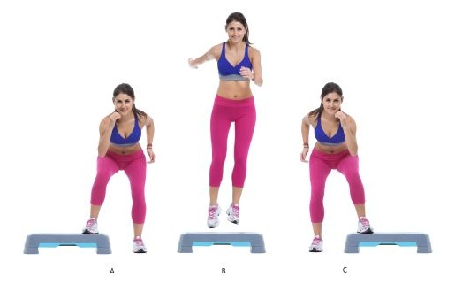 Box jumps - fast fat burning exercises