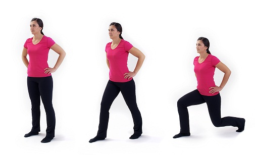 Lunges - fat burning exercises at home