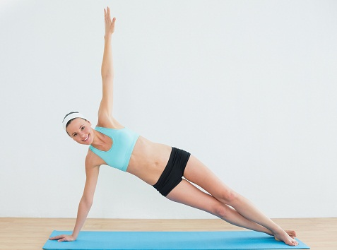 Fat Burning Exercises - Side Plank with Leg Raises