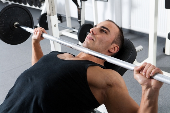 Inclined barbell wide