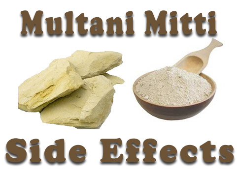 Multani Mitti Side Effects on face and skin