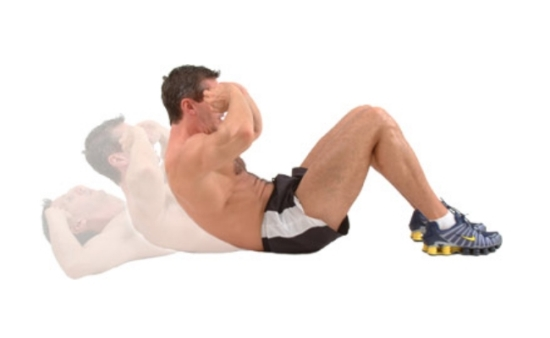Sit ups exercise for reducing belly fat