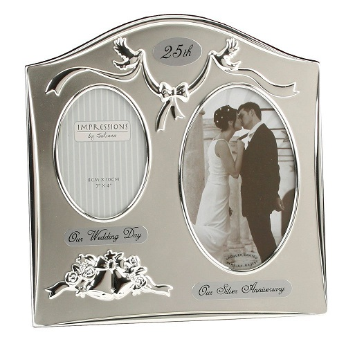 This two picture frame is the right gift for a couple. The 25th-anniversary idea is to print in bold on the top of the frame. The wedding picture is a great ...  sc 1 st  Styles At Life & 40 Unique Gifts for Parents on 25th Wedding Anniversary | Styles At Life