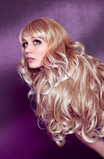 Rolled Party Look Long Layered Hair Fringe