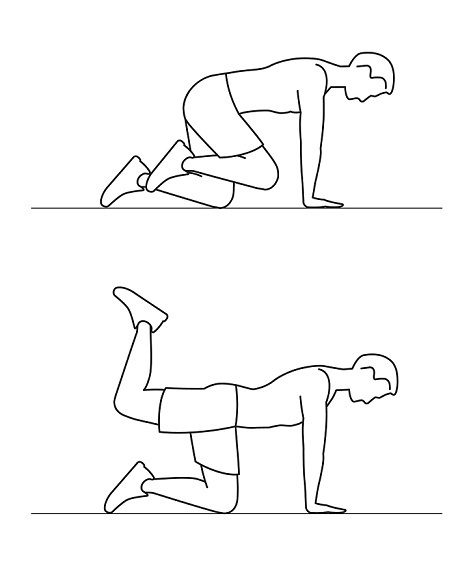 9 Best Yoga Asanas to Reduce Belly Fat donkey kicks