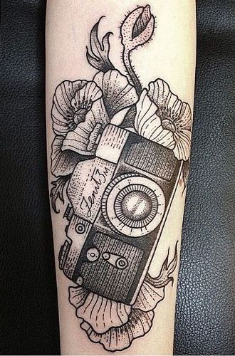 2ed0b694271fa Top 9 Camera Tattoo Designs And Pictures | Styles At Life