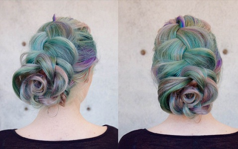The Dyed Flower Braid Hairstyles