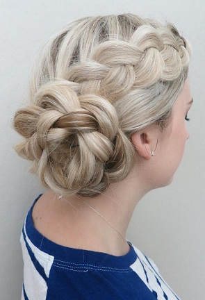 The Updo Floral Braided Hairstyles