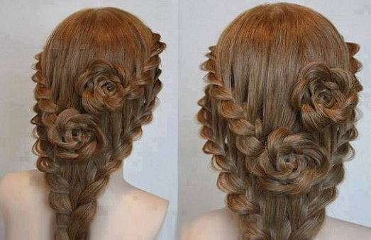 The Rose Bud Hair Flower Braid Hairstyle For Girls