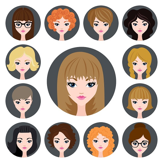 How to choose hairstyles for a girl