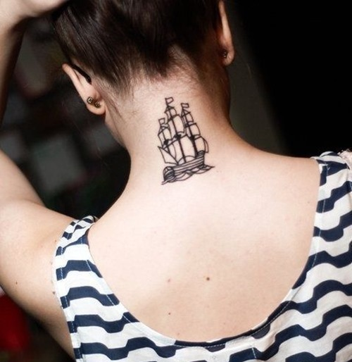 Ship style tattoo