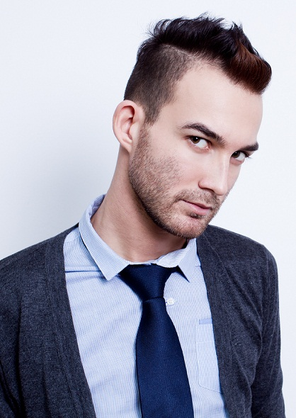 Undercut hairstyles for men - Front pouf