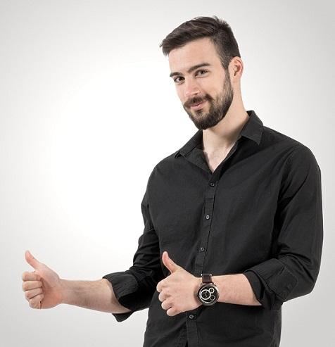 Undercut hairstyles for men - Short back brush
