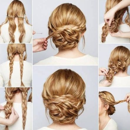 braided bun hairstyles - The Wrapped Braid