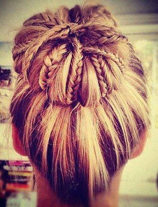 braided bun hairstyles - The Mix And Match