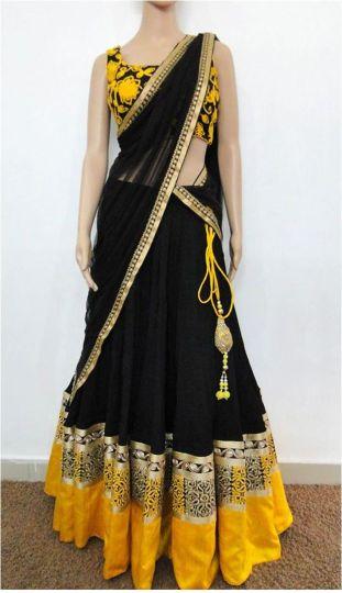 designer lehenga sarees5