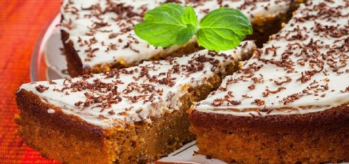 eggless carrot cake recipe1