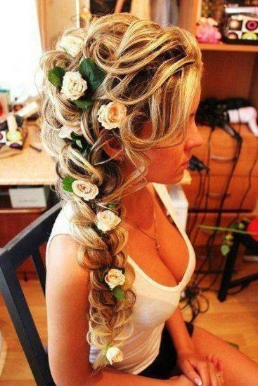 The Romantic Look Flower Braid Hairstyles