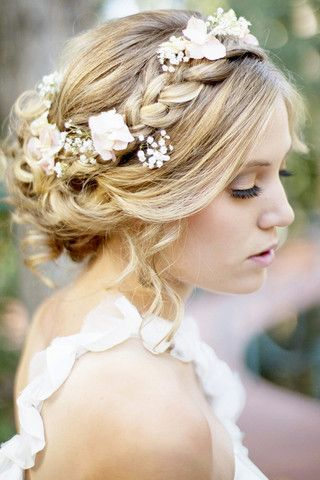 The Braided Up Do Hair Flower Braid
