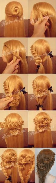 The Double Flowers Braid Hairstyles