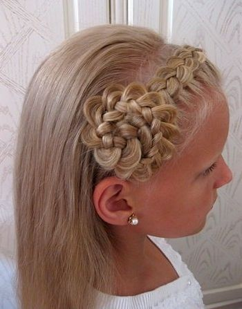 The Front Band Braid flower hairstyles