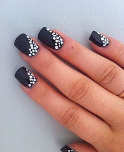 10 Best Black And White Nail Art Designs Styles At Life