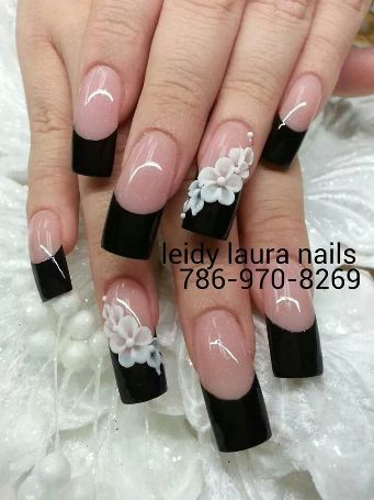 10 best black and white nail art designs styles at life black and white nail art3 prinsesfo Images
