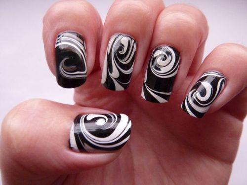 Black And White Nail Art4