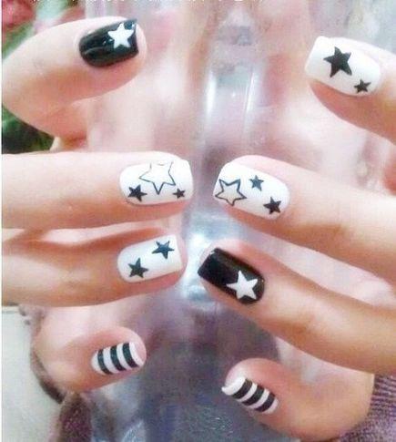 Black And White Nail Art6