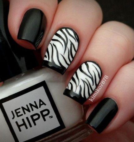 Black And White Nail Art7
