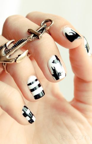 Black And White Nail Art9