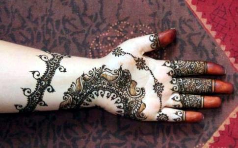 Bombay style mehndi designs3