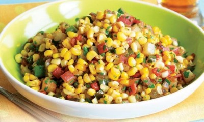 Summer corn vegetable saute