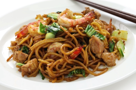 Thai prawn and spring onion stir fry