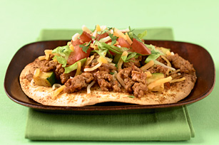 Turkey vegetable tostadas