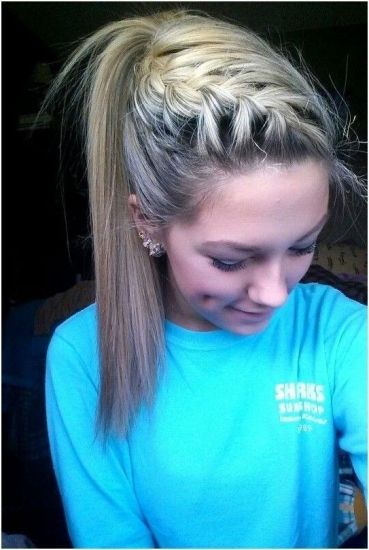braided ponytails